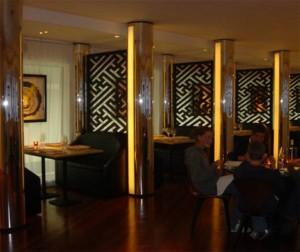 restaurant fitting designed by aj design