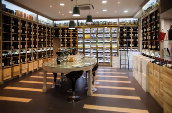 wine-sellers, luxury goods stores beautifully designed